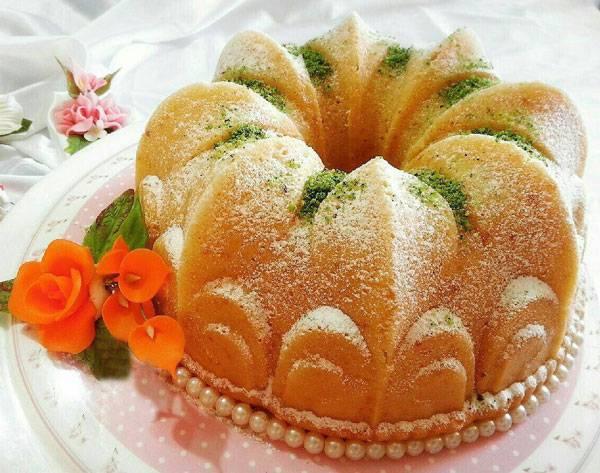 کیک هل و گلابخانگی